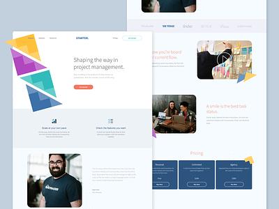 SaaS Starter Website Design web web design ui sass