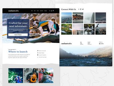 Outdoor Company Web Design outdoors web design web ui