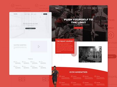 SquatStudio Wireframe To Web Design weightlifting fitness gym web design ux design ux ui