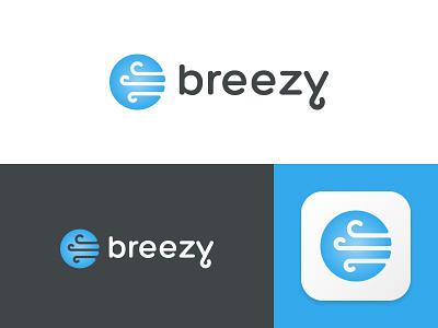 Breezy Branding saas branding logo