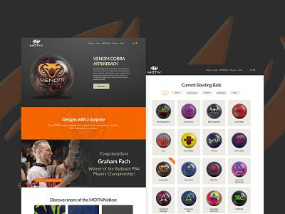 Motiv Bowling Redesign Concept bowling ui redesign web design