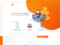 Landing page design for Chat Q