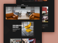 Website desgin for commercial fitout company