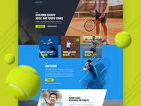Homepage design for tennis club