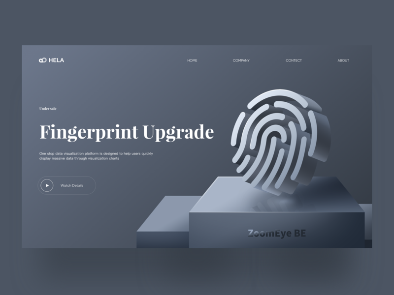 Fingerprint Upgrade  2.5D web design