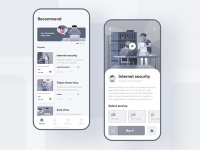 Internet security  App design