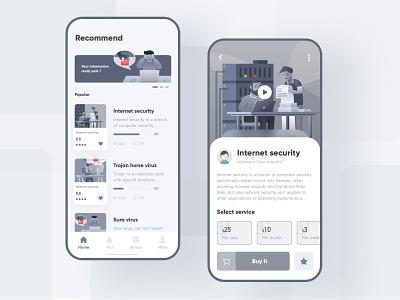 Internet security  App design ux typography vector web design illustration ui