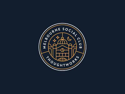 Melbourne Social Club - ThoughtWorks club social australia line symbol emblem badge thoughtworks melbourne logo