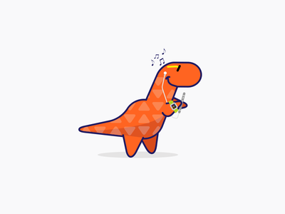 Tech-Rex illustration character iphone animal t-rex dinosaur dino rex