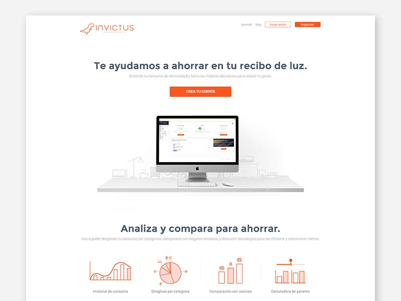 Invictus Proposal orange app invictus web proposal landing