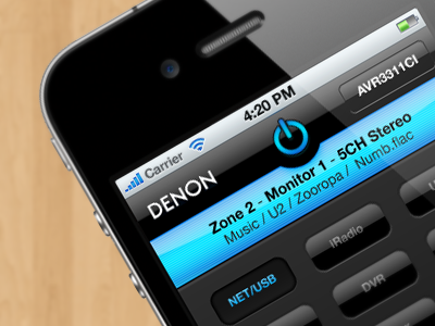 Denon AVR iPhone App concept iphone concept ui mobile app interface