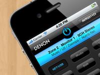 Denon AVR iPhone App concept