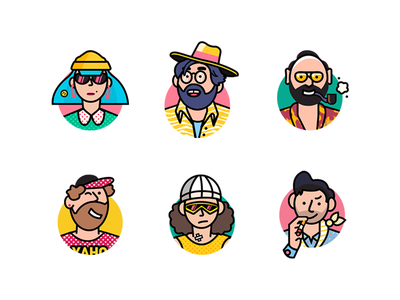 Head-portrait illustration icon ui illustration design