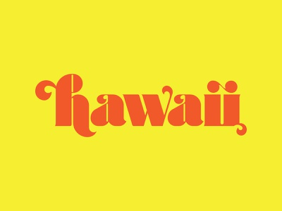 Hand Lettering - Hawaii (Swashes) lettering logo identity branding