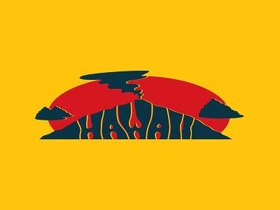 Hand Lettering - Hawaii (Volcano) lettering logo identity branding