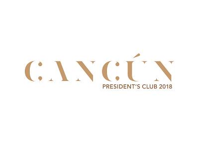 Cancun 2018 Logo V1a logo identity branding