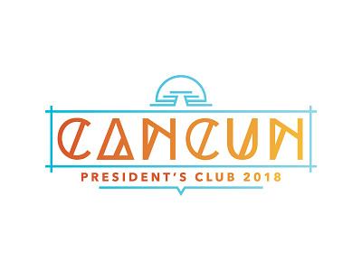 Cancun 2018 Logo V1b logo identity branding
