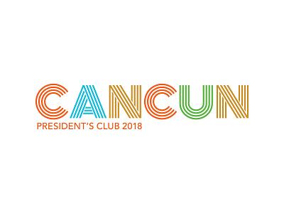 Cancun 2018 Logo V1c logo identity branding