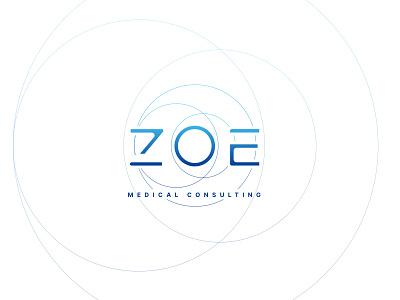 ZOE - Medical Consulting digital clean typography branding brand logo design