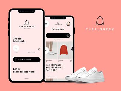 TURTLENECK - V2 interface icon digital clean typography brand ux ui logo design