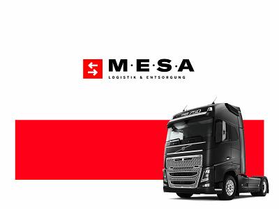M.E.S.A icon digital black clean branding brand logo design