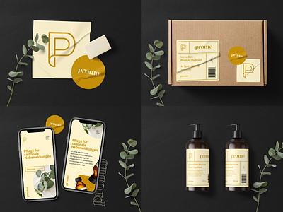 promo - beauty digital black clean typography branding brand ux ui logo design