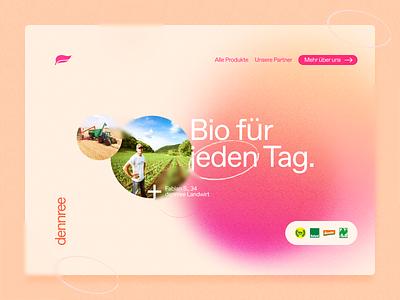 dennree - website sansserif typo gradient graphic design desktop website dennree ui typography branding brand logo design