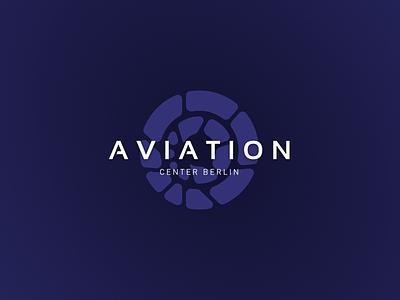 AVIATION - logo icon typo aviation blue typography branding brand logo design