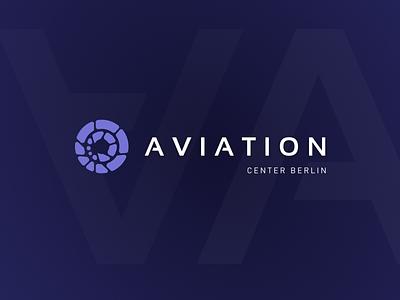AVIATION - logo graphic design aviation blue typo vector illustration typography branding brand logo design