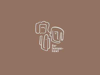 for humankind clean minimal scandinavian vector illustration typography branding brand logo design