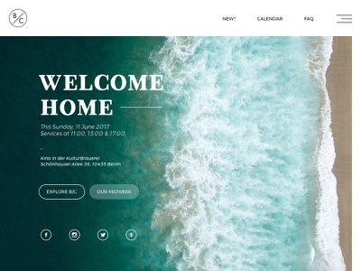 myberlinconnect berlin amen jesus photography ux landing page website church