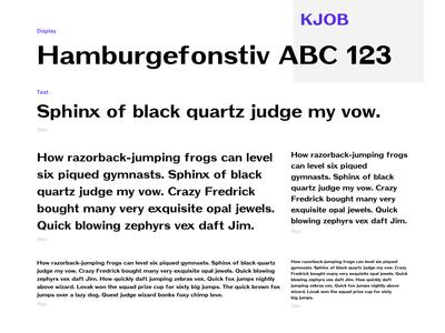 KJOB - Display Font display letter typo typography easy fontdesign font