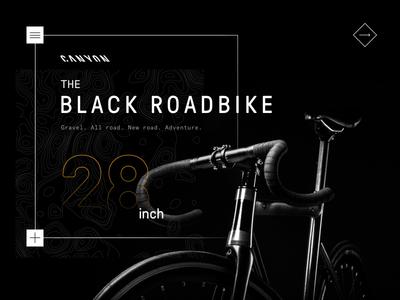 Canyon - Gravel digital draft webdesign website interface design bicycle bike canyon