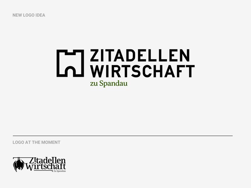 Zitadellen Wirtschaft zu Spandau icon vector digital typography branding brand logo