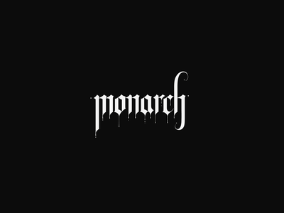 monarch metal vector illustration black typography branding logo design