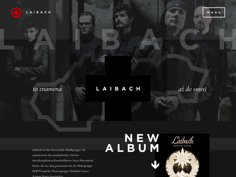 L A I B A C H typography ux icon nice clean black webdesign website branding logo ui design