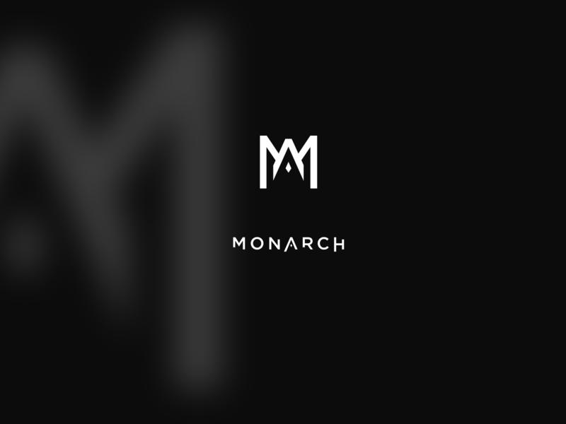 MONARCH // v2 icon vector clean black typography logo brand design
