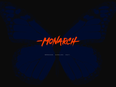 M O N A R C H vector illustration interface clean digital typography branding brand logo design
