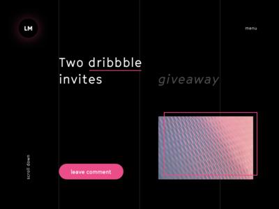 two dribbble invites giveaway invite invitaion ux ui clean webdesign website black typography brand logo design