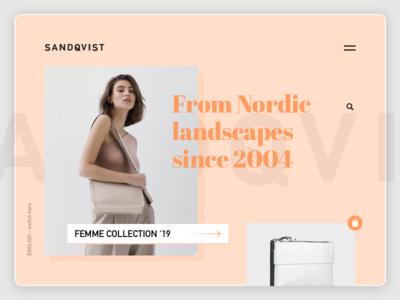 SANDQVIST logo nice clean webdesign website typography branding brand ux ui design