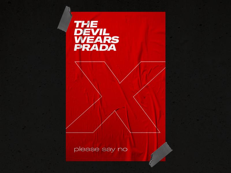 PLEASE SAY NO print illustration vector typography branding brand design theme the devil wears prarda