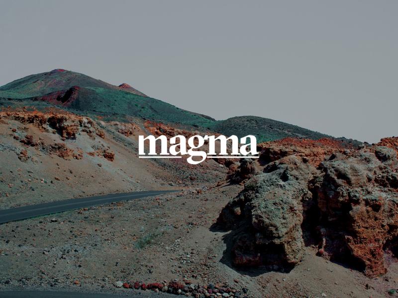 magma interface digital black clean typography branding brand logo design