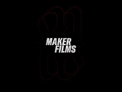 MAKERFILMS vector nice black clean typography branding brand logo design
