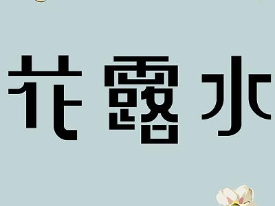 花露水商標 logo typography chinese