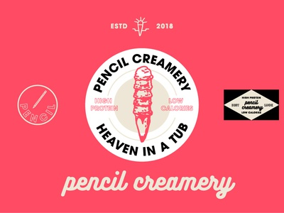 Pencil Creamy logo design graphic  design