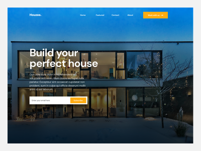 #Exploration - Houzee Hero Section typhography bold hero homepage landingpage minimalist design clean design clean ui branding design user interface web webdesign ui uidesign ui design uiuxdesign hero section