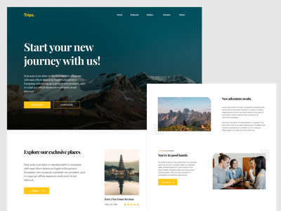 #Exploration - Travel Landing Page mixwebdesign uiuxsupply dailywebdesign travel web design web typhography hero hero section landing page design landingpage minimalist clean ui bold branding ux ui ui design uidesign