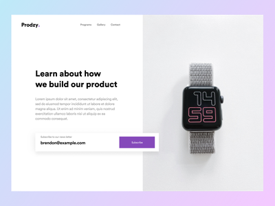 #Exploration - Prodzy Hero Section landingpage homepage webdesigner figmadesign minimalist clean typography web design dailywebdesign webdesign web clean ui bold branding interface uiuxdesign ui design ux uidesign ui