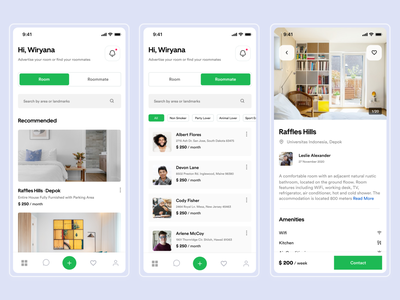 #Exploration - Roommate Mobile App minimalistic roommate figmadesign mobile ui minimalist bold ios clean ui interface uiuxdesign uidesign ui design app ux ui