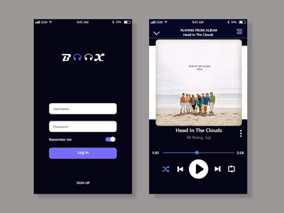 Music Exploration ui design user interface uidesign uiuxdesigner uiuxdesign app design ui ux